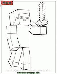 coloring pages of minecraft with regard to encourage to color an