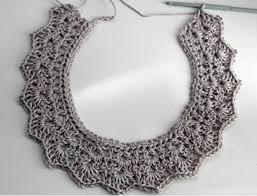 crochet necklace patterns images Crochet collar necklace tutorial potential for wire the jpg