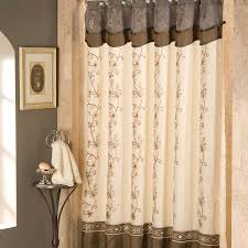 Brown And White Bathroom by Art Deco Shower Curtain How To Decorate Bathroom With Style
