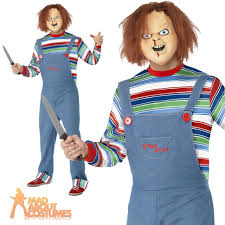 Mens 80s Halloween Costumes Mens Chucky Costume 80s Halloween Fancy Dress Horror Movie