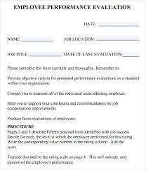 employee evaluations templates