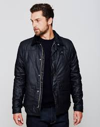 barbour reelin wax jacket navy at the idle man