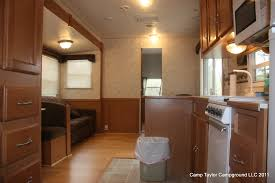 5th Wheel Living Room Up Front by Camp Taylor Rv Rentals
