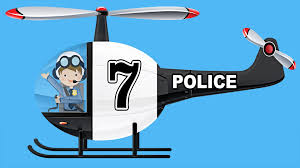 police helicopters teaching numbers 1 to 10 helicopter number
