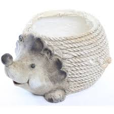 animal planter alpine hedgehog resin planter waz114 the home depot
