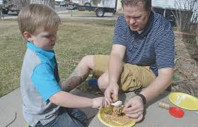 pine cone bird feeders springtime family fun building our story