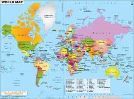 world map political with country names world map