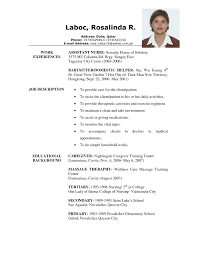 exle of resume format for unforgettable caregiver resume exles to stand out nanny resume