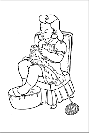 kids printable coloring page knitting the graphics fairy