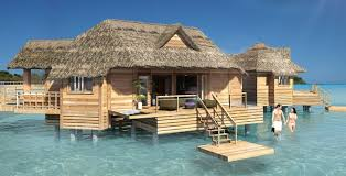 Tiki Hut On Water Vacation Sandals Adds Overwater Bungalows To Private Island Resort