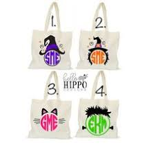 personalized halloween tote bag personalized trick or treat bag