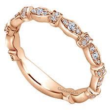 ladies rings jewellery images 14k rose gold stackable diamond ladies 39 ring jordan jewelers jpg