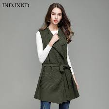 sweater vest womens indjxnd winter lapel medium section knitted cardigan