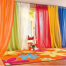 Multi Color Curtains Iyuego Rainbow Color Sheer Tab Top Curtains Draperies