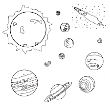 planets stars coloring pages 3 pics space