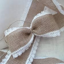burlap and lace ribbon burlap ribbon 3 linen lace edged wedding chair sash ribbon 3