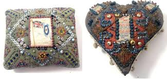 sweetheart pincushions british soldiers turned to embroidery