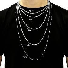 mens necklace chains length images Length of gold chains caymancode jpg