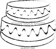 drawing cake pastry cream black and white stock photos u0026 images
