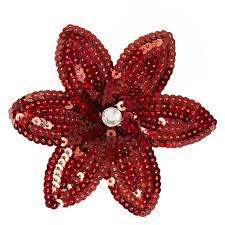 flower hair clip burgundy sequin flower hair clip s