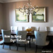 how high do i need to hang my light fixture