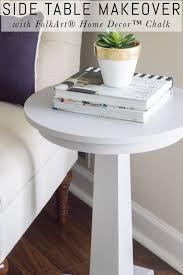 Folk Art Home Decor Chalk Side Table Makeover With Folkart Home Decor Chalk Erin Spain