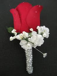boutonniere flower wedding groom bud silk flower boutonniere