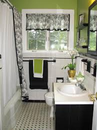 bathroom bathroom accessories with black and white tiles design