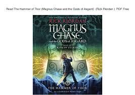 read the hammer of thor magnus chase and the gods of asgard rick