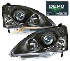 honda civic headlight honda civic si hatchback 2002 2005 depo black projector headlights