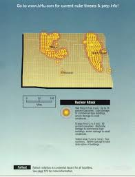 Nuclear Fallout Map by Nuclear War Fallout Shelter Survival Info For North Dakota With