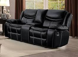 Loveseat Black Leather Bastrop Black Leather Gel Match Reclining Sofa U0026 Loveseat 8230blk