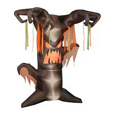 halloween inflateables shop gemmy frightening tree 8 ft animated lighted halloween