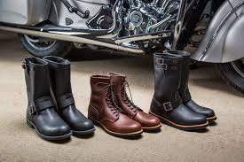 female motorcycle boots indian partners with red wing shoes to create line of motorcycle