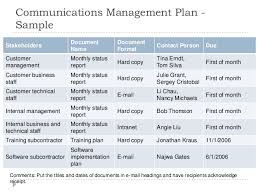 communication plan example communication and engagement plan