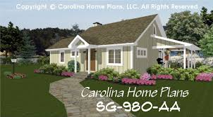 Carolina Home Plans Small Contemporary Cottage House Plan Sg 980 Sq Ft Affordable