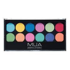 Makeup Mua mua 12 shade eyeshadow palette silent disco mua make up academy