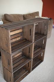Simple Wood Shelves Plans by 25 Best Crate Bookshelf Ideas On Pinterest Desk To Vanity Diy