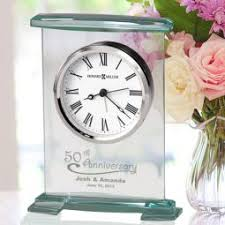Personalized Anniversary Clock Personalized Anniversary Keepsake Gifts