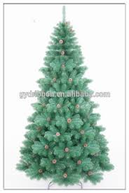 popular selling pinecone decoratived pre lit folding pvc