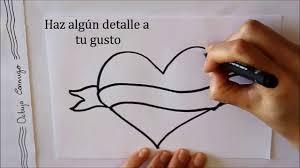 imagenes bonitas de te amo para dibujar cómo dibujar un corazón con letrero dibuja conmigo dibujos de amor