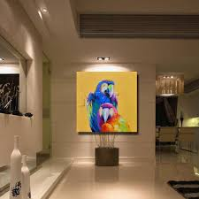home decor exhibition online shop china parrot oil painting wall art home decoration