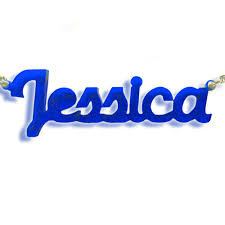 Acrylic Name Necklace New York Style Color Name Necklace Mynamenecklace
