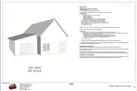 20x40 gable barn plans