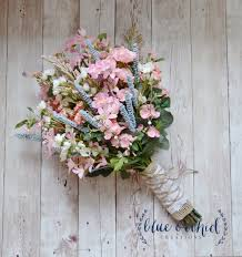 Shabby Chic Wedding Bouquets by Wildflower Bridal Bouquet Rustic Bouquet Pink Wildflower