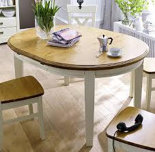 Esszimmer Tisch Massiv Landhaus Esstisch Tisch Rund 120x120 Paris 2 Farbig Champagner
