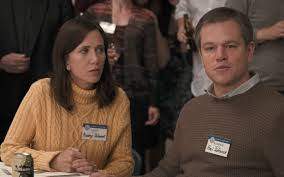 watch matt damon and kristen wiig get small in the trailer for
