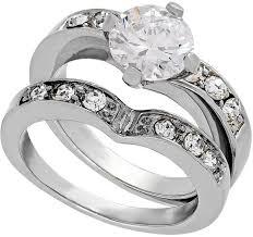 zirconia stone rings images Thalia sodi silver tone cubic zirconia stone ring and band set jpg