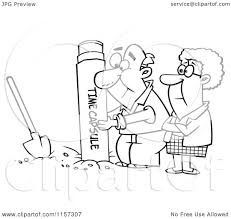cartoon clipart of a black and white senior couple pulling out or