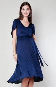 nursing wear cocoon nursing dress velvet blue maternity wedding dresses